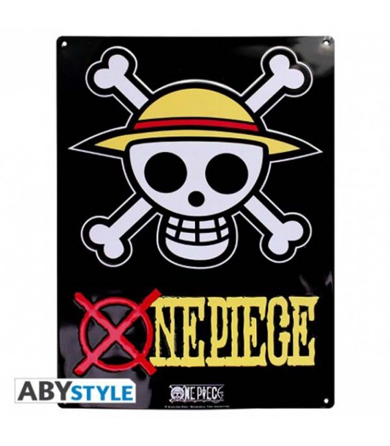 """ONE PIECE - METAL PLATE/PLACCA IN METALLO """"SKULL LUFFY"""""""