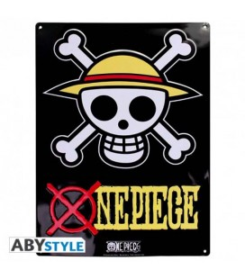 "ONE PIECE - METAL PLATE/PLACCA IN METALLO ""SKULL LUFFY"""