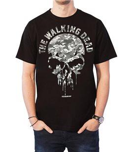Maglia The Walking Dead Skull Camo - Nero Tg.M