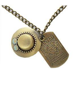 Pidak Shop - Necklace/Collana Cappello Pirata Con Medaglia/Pirate Hat With Medal