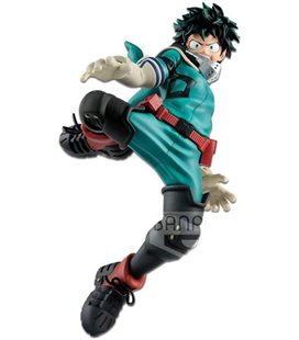 My Hero Academia : Action Figure Banpresto Collection Izuku Midoriya Deku Della Serie King Of Artist Pvc 16 Cm