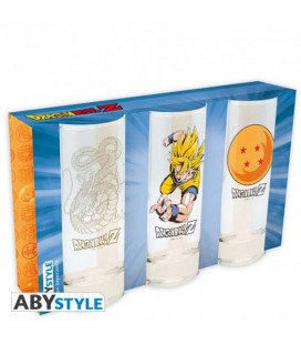 "DRAGON BALL - SET 3 GLASSES / BICCHIERI - ""DRAGON BALL"""