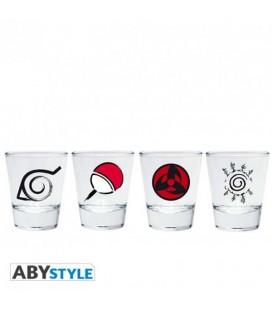 Naruto Shippuden - Abystyle - Set Bicchieri Shootglass - Emblemi - Vetro
