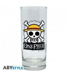 One Piece - Bicchiere - ABystyle - Skull Luffy - Glass - 290 Ml - 14 Cm