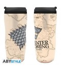 "GAME OF THRONES - TRAVELMUG/TUMBLER/TAZZA DA VIAGGIO - ""WINTER IS COMING"""