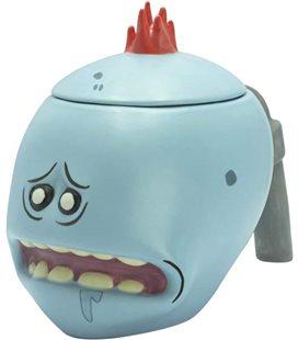 Rick E Morty - Abystyle - 3D Shaped Mug - Tazza - Mr. Meeseeks - 450 Ml - Ceramica