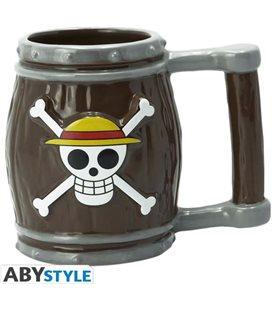 Abystyle - One Piece -Barile - Barrel - 3D Shaped Mug - Tazza - 350 Ml - Ceramica