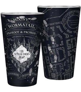 Abystyle - Harry Potter - Bicchiere Xxl - 400 Ml - Mappa Del Malandrino - Marauder'S Map - Glass - Large Glass - Vetro