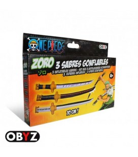 "ONE PIECE - SET SPADE GONFIABILI/INFLATABLE SWORD ""ZORO"""