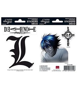 Death Note - Abystyle - Stickers - Adesivi - L (16X11Cm) - Wall - Notebook - Murali O Altre Superfici
