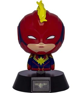 Captain Capitan Marvel - Paladone - Lampada - Lamp - Light - Icona - Avengers - Led - Usb - Batterie - 11 Cm - Pvc