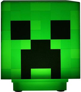 Minecraft - Paladone - Lampada - Lamp - Light - Icona - Creeper - Led - Usb - Batterie - 11 Cm - Pvc