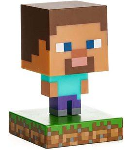 Minecraft - Paladone - Lampada - Lamp - Light - Icona - Steve - Led - Usb - Batterie - 11 Cm - Pvc