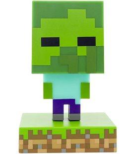 Minecraft - Paladone - Lampada - Lamp - Light - Icona - Zombie - Led - Usb - Batterie - 11 Cm - Pvc
