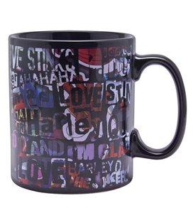 Harley Quinn - Paladone Products - Dc Comics - Tazza Termica Cambia Colore - Heat Change Mug - 300 Ml - Ceramica