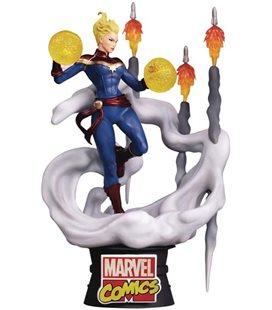 Captain Marvel - Capitan - Marvel - Avengers - Comics D-Stage 16 Cm Diorama - Action Figure - Pvc