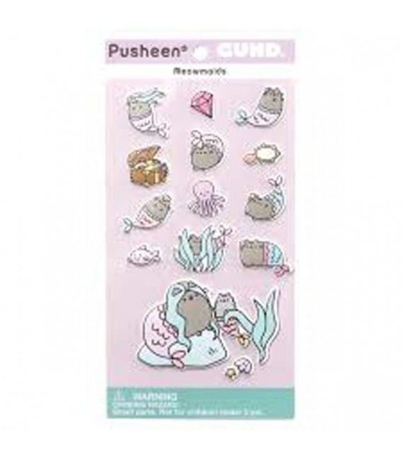 "PUSHEEN THE CAT - GADGET ""STICKERS/ADESIVI PUSHEEN MERMAID/PUSHEEN SIRENETTA"