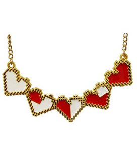 Pidak Shop - Necklace/Collana 4 Cuori Vite Eroe 10 Cm