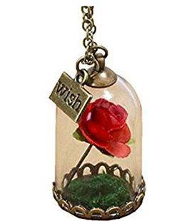 Collana Con Rosa Nella Teca - Pidak Shop