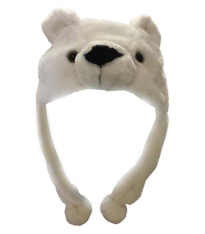 taglia unica per adulti morbido e avvolgente. Cappello di peluche a forma di orso polare