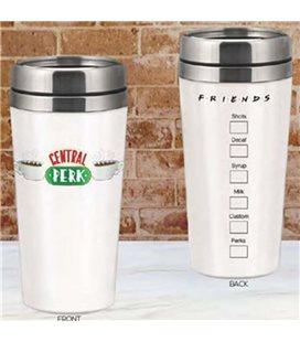 Central Perk Travel Mug Friends - 450 Ml - Tazza Da Viaggio Acciaio - 19 Cm