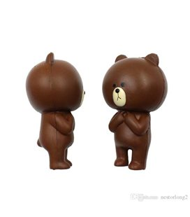 Pidak Shop - Soft Squishy Brown Bear 15 Cm