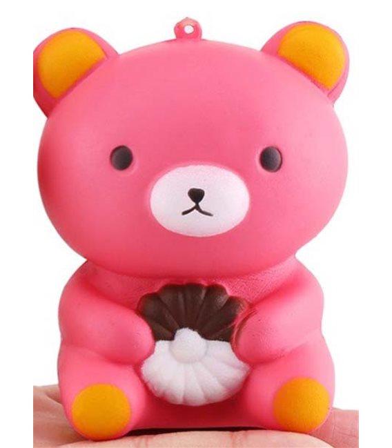 Pidak Shop - Soft Squishy Pink Bear 12 Cm