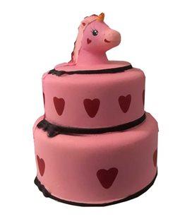 Pidak Shop - Soft Squishy Torta Di Compleanno Unicorno/Unicorn Birthday Cake - Pink 15Cm