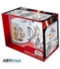 Star Wars - Gift Box - Mug/Tazza King Size 460Ml + Portachiavi/Keyring + Sticker Bb8