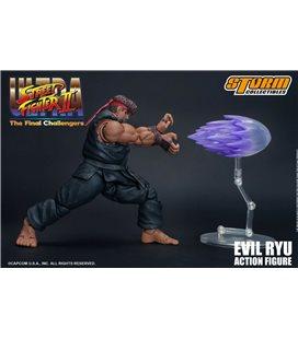 Street Fighter - Action Figure Evil Ryu con Box Esterna Danneggiata