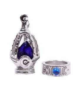 Pidak Shop - Anello E Collana Della Maga - Pietre Blu
