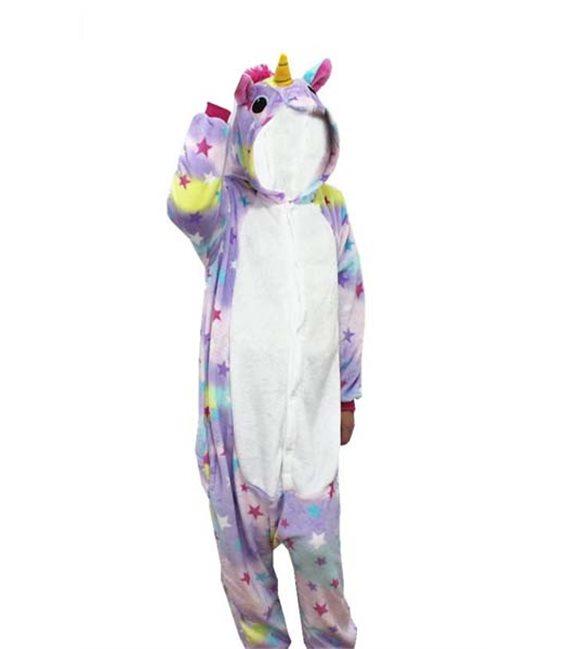 Pigiama/Costume Unicorno Bianco Stellato Size Xl