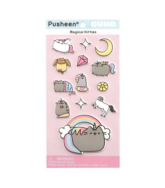 Pusheen The Cat - Gadget Stickers Adesivi Magic Cats Gatti Magici