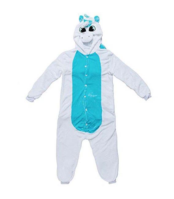 Pigiama/Costume Unicorno Bianco Azzurro Size S