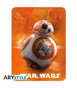Star Wars - Placca In Metallo/Metal Plate - Bb8