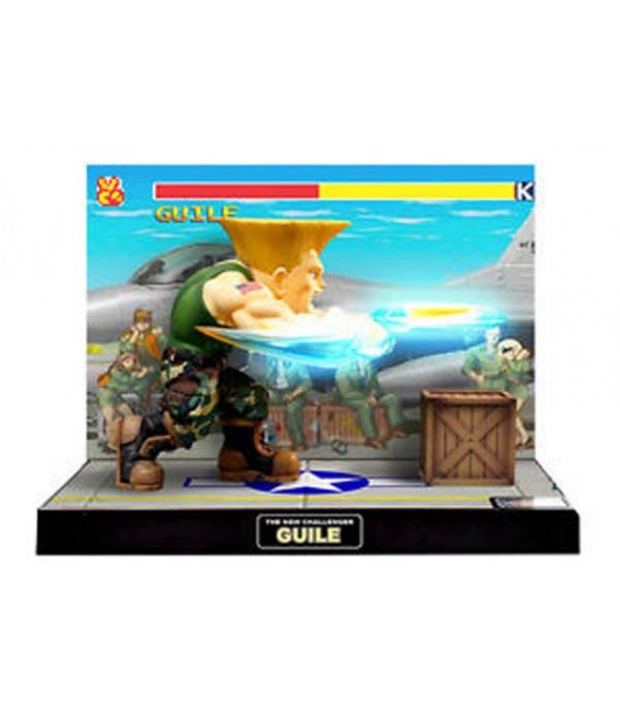 Street Fighter II - Diorama - Action Figures - Big Boys Toys - WIth sounds and lights - Luci e suoni - PVC - Guile