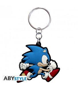 Portachiavi Sonic Run - Sega - 4,2 Cm X 4,5Cm - Abystyle