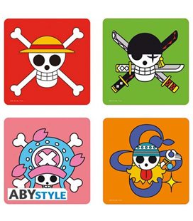 Abystyle - One Piece - Set Di 4 Sottobicchieri - 4 Skulls Coasters
