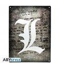 Death Note - Metal Plate /Placca In Metallo - Emblema/Emblem L