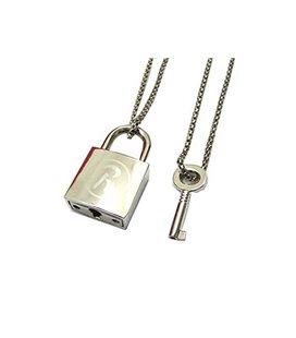 Pidak Shop - Necklace/Collana Padlock With Key/Lucchetto Con Chiave 6 Cm