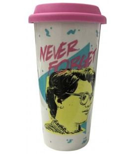 "STRANGER THINGS - TRAVEL MUG/TAZZA DA VIAGGIO ""NEVER FORGET"""