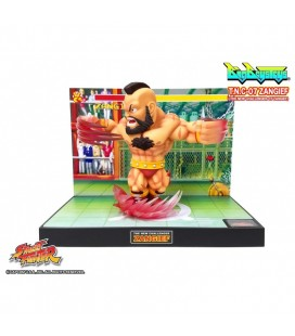 Street Fighter II - Diorama - Action Figures - Big Boys Toys - WIth sounds and lights - Luci e suoni - PVC - Zangief