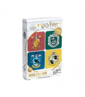 Gioco di Società Da Viaggio delle Casate di Harry Potter - Houses in a Row - Paladone Products