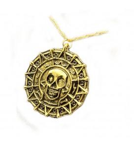 Necklace Collana Medaglione Golden Pirate Medallion pirati dei caraibi