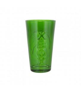 Bicchiere In Vetro Verde Con Logo X-Box - Ufficiale Microsoft - 40 Cl - Paladone
