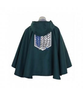 Mantello Della Legione Militare Con Cappuccio - Verde Scuro