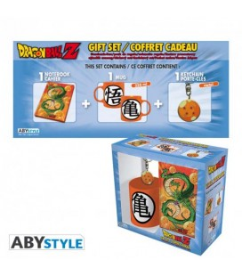 "DRAGON BALL - GIFT BOX - MUG/TAZZA 320ML + KEYRING/PORTACHIAVI + NOTEBOOK ""DRAGON BALL"""