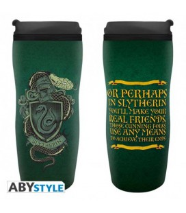 "HARRY POTTER - TRAVELMUG/TUMBLER/TAZZA DA VIAGGIO ""SERPEVERDE"""
