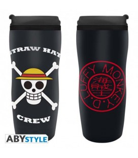 "ONE PIECE - TRAVELMUG/TUMBLER/TAZZA DA VIAGGIO ""LUFFY"""