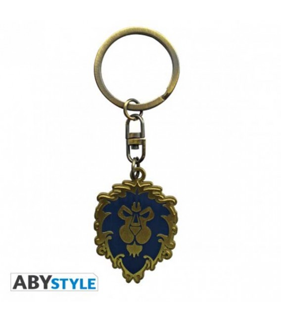 "WORLD OF WARCRAFT -KEYRING/PORTACHIAVI ""ALLIANCE EMBLEM"""